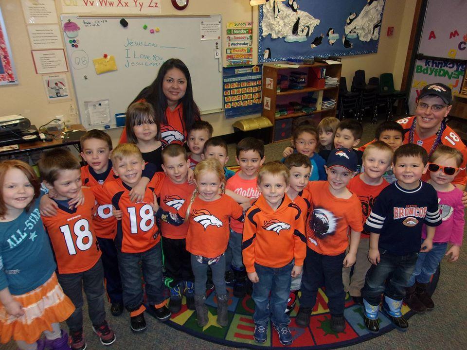 teacher and children at a Preschool & Daycare Serving Thornton, CO