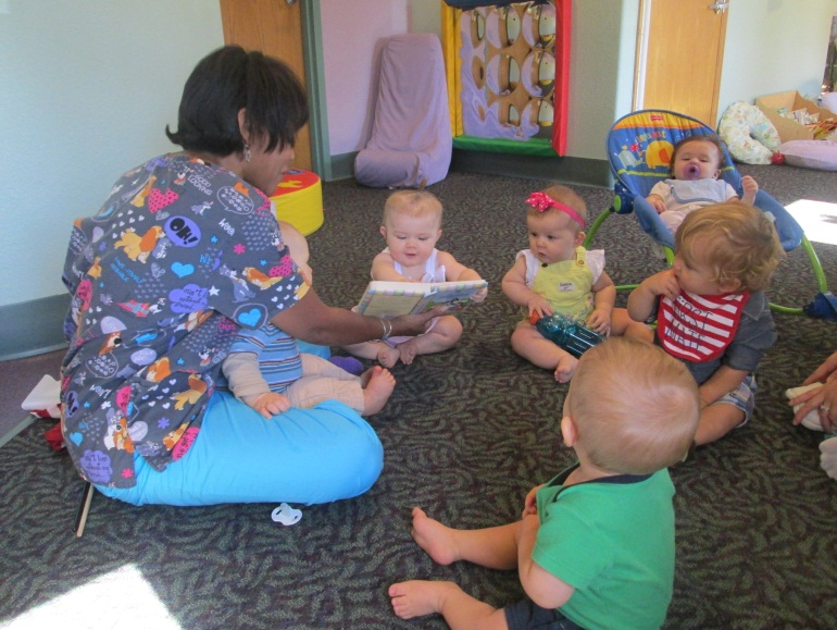 teacher and toddlers at a Preschool & Daycare Serving Thornton, CO